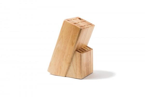 Messerblock aus Gummibaumholz